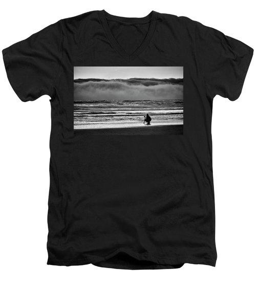 Chasing Tide And Light Men's V-Neck T-Shirt