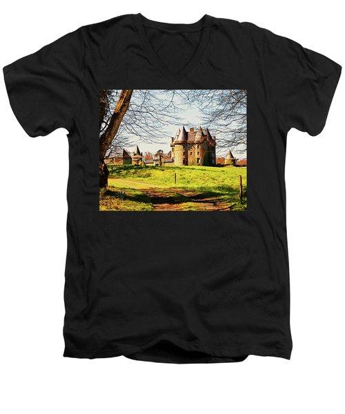 Chateau De Landale Men's V-Neck T-Shirt