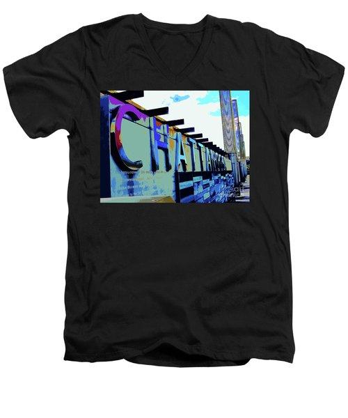 Chattanooga Tennessee Sign Men's V-Neck T-Shirt