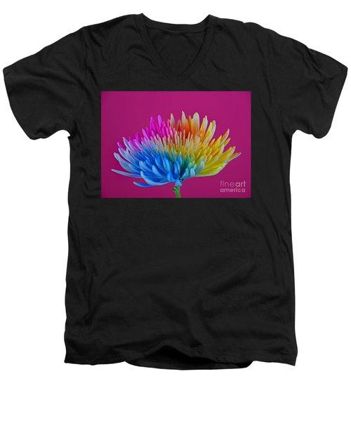 Cheerful Men's V-Neck T-Shirt by Ray Shrewsberry