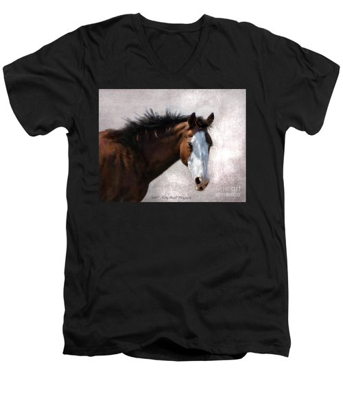 Cherokee Men's V-Neck T-Shirt by Kathy Russell