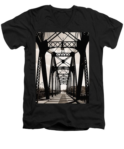 Cherry Avenue Bridge Men's V-Neck T-Shirt