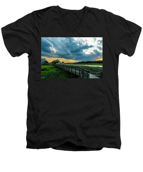 Cherry Grove Channel Marsh Men's V-Neck T-Shirt