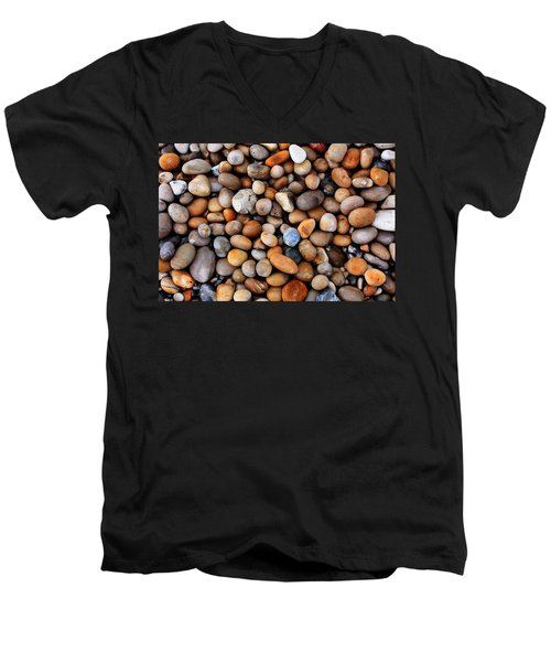 Chesil Pebbles Men's V-Neck T-Shirt