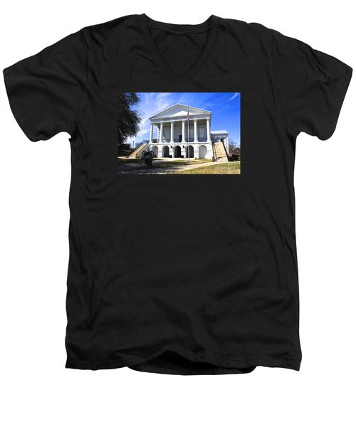 Chester South Carolina Court House Day 1 Men's V-Neck T-Shirt