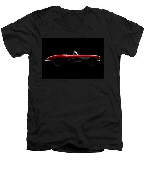 Chevrolet Corvette C1 - Side View Men's V-Neck T-Shirt