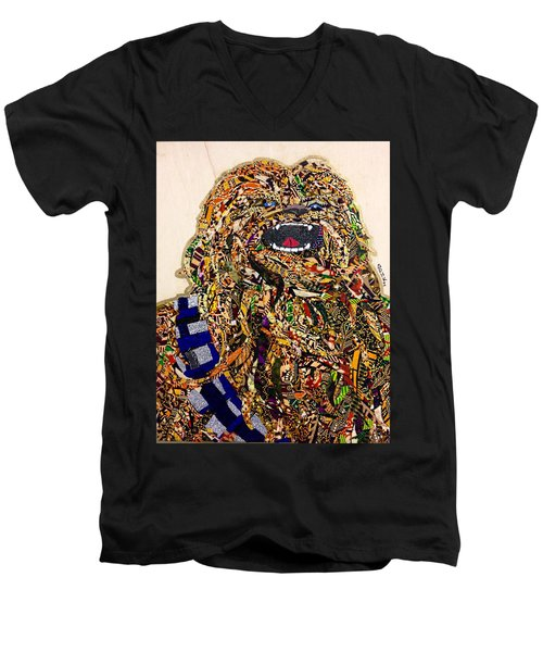 Chewbacca Star Wars Awakens Afrofuturist Collection Men's V-Neck T-Shirt