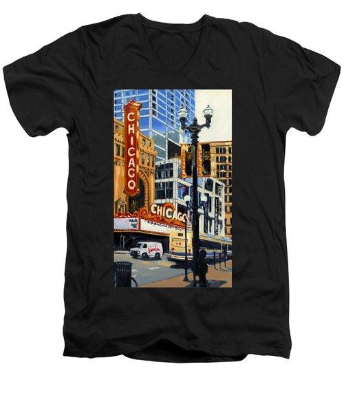 Chicago - The Chicago Theater Men's V-Neck T-Shirt