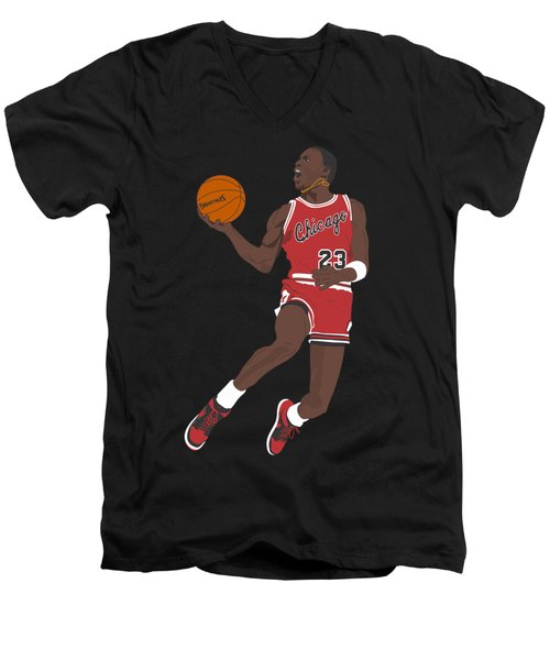 Chicago Bulls - Michael Jordan - 1985 Men's V-Neck T-Shirt