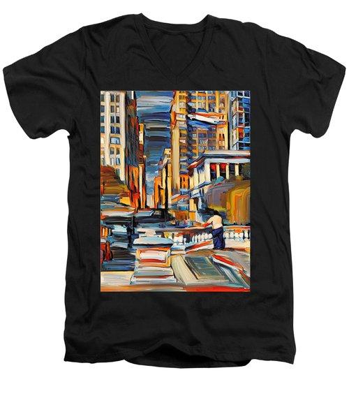 Chicago Colors 7 Men's V-Neck T-Shirt