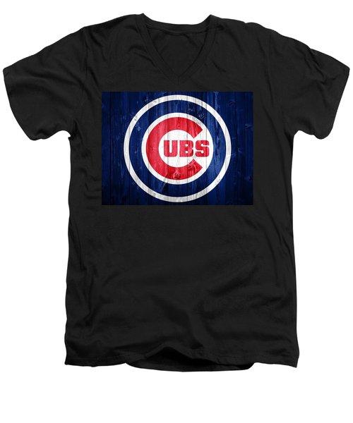 Chicago Cubs Barn Door Men's V-Neck T-Shirt by Dan Sproul