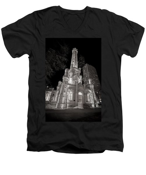 Chicago Water Tower Men's V-Neck T-Shirt