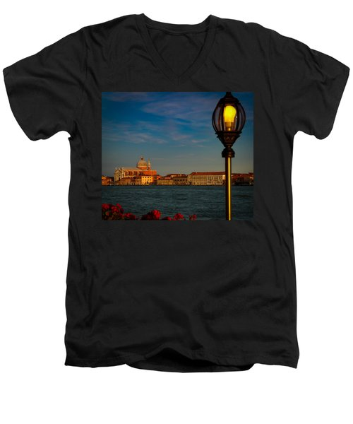 Men's V-Neck T-Shirt featuring the photograph Chiesa Del Santissimo Redentore by Kathleen Scanlan
