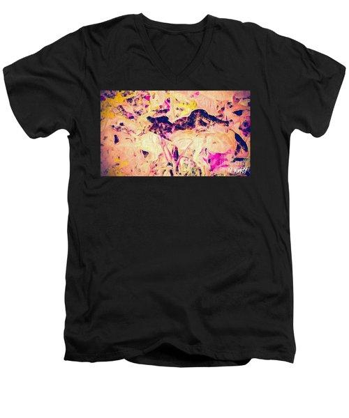 China Garden Men's V-Neck T-Shirt by William Wyckoff