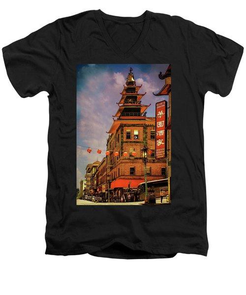 Chinatown San Francisco Men's V-Neck T-Shirt