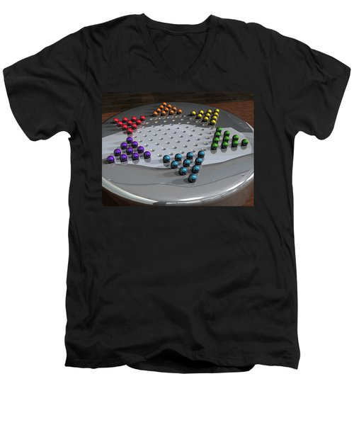 Chinese Checkers Men's V-Neck T-Shirt