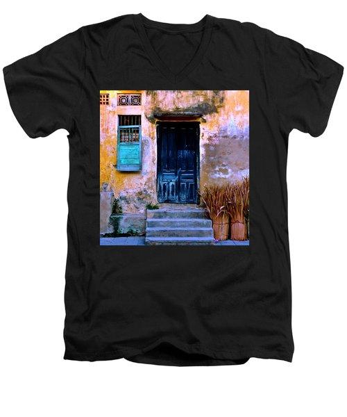 Chinese Facade Of Hoi An In Vietnam Men's V-Neck T-Shirt