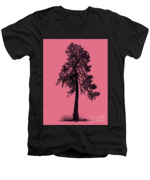 Chinese Pine Tree Men's V-Neck T-Shirt