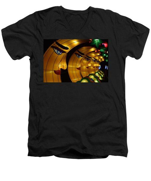 Chinese Moons Men's V-Neck T-Shirt