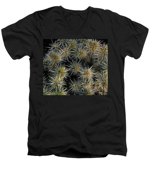 Cholla Cactus Cluster Men's V-Neck T-Shirt