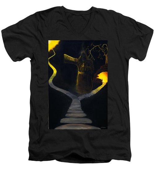 Chosen Path Men's V-Neck T-Shirt by Brian Wallace