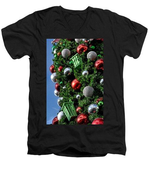 Christmas Balls Men's V-Neck T-Shirt