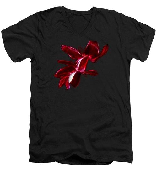 Christmas Cactus Flower Men's V-Neck T-Shirt