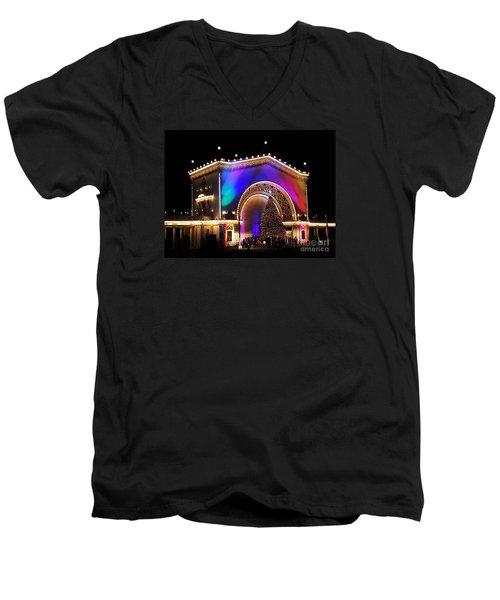 Christmas Celebration In San Diego  Men's V-Neck T-Shirt by Jasna Gopic