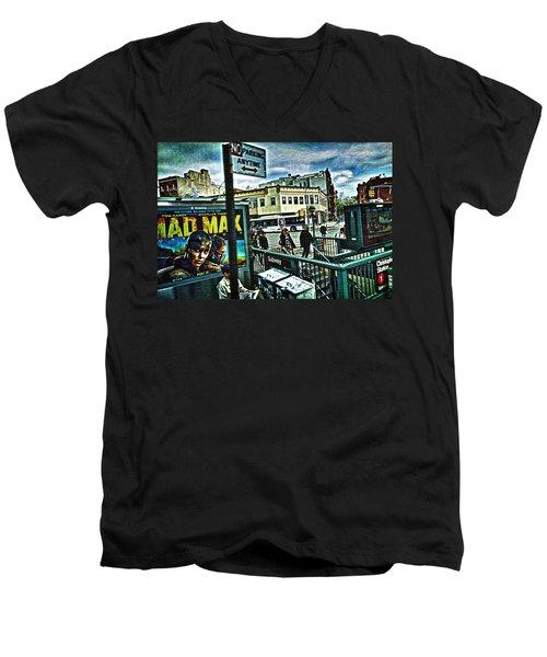 Christopher Street Greenwich Village  Men's V-Neck T-Shirt