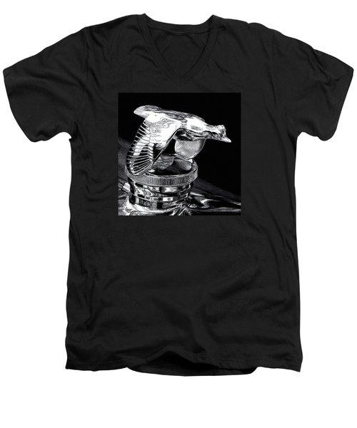Chrome In Flight Men's V-Neck T-Shirt