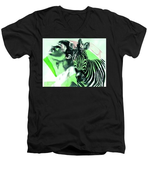 Chronickles Of Zebra Boy   Men's V-Neck T-Shirt