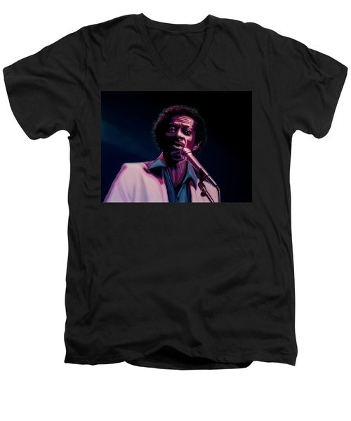 Chuck Berry Men's V-Neck T-Shirt by Paul Meijering