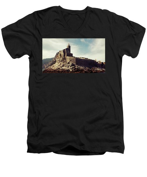 Church Of San Pietro Men's V-Neck T-Shirt by Joseph Westrupp