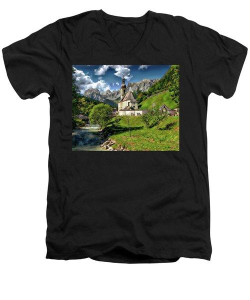 Church Of St. Sebastian Men's V-Neck T-Shirt