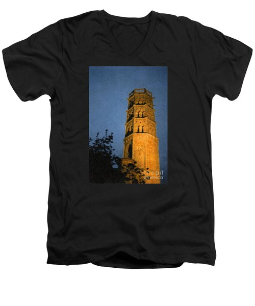 Men's V-Neck T-Shirt featuring the photograph Church Steeple by Jean Bernard Roussilhe