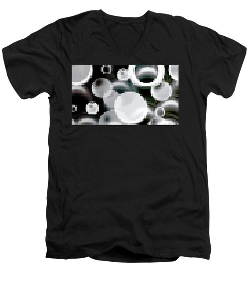 Circle Blocks Men's V-Neck T-Shirt
