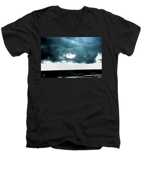 Circle Of Storm Clouds Men's V-Neck T-Shirt