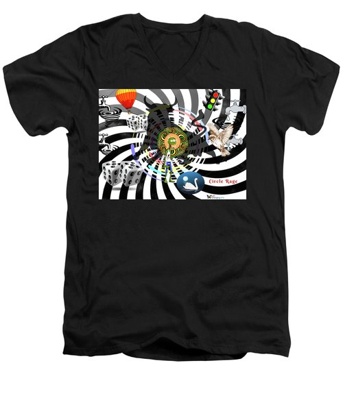 Circle Rage II Men's V-Neck T-Shirt