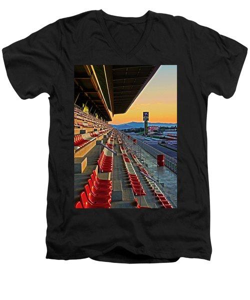 Circuit De Catalunya - Barcelona  Men's V-Neck T-Shirt by Juergen Weiss