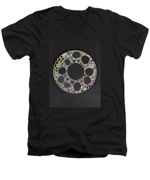 Circular Convergence Of Mutated Molecules Men's V-Neck T-Shirt by Douglas Fromm