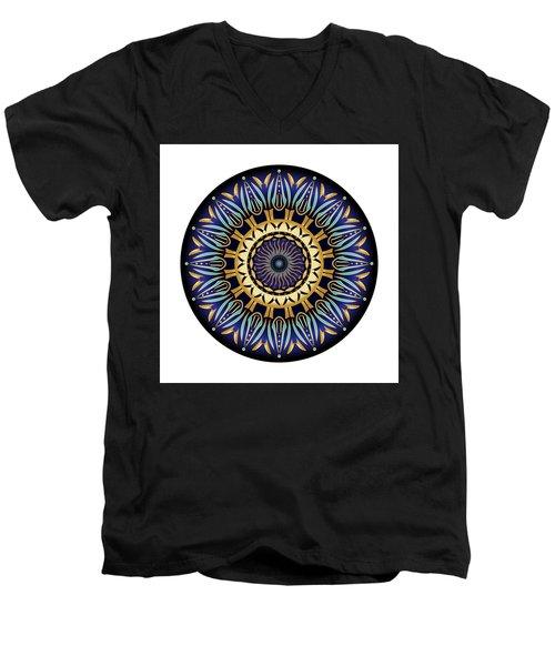 Men's V-Neck T-Shirt featuring the digital art Circularium No 2641 by Alan Bennington