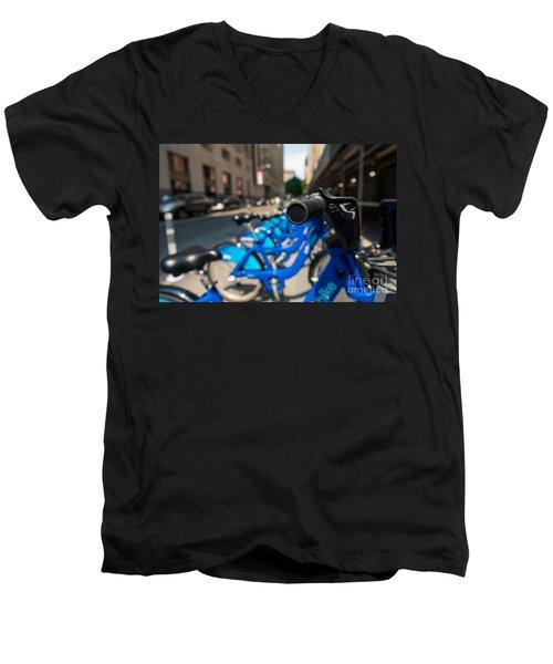 Citibike Handle Manhattan Color Men's V-Neck T-Shirt