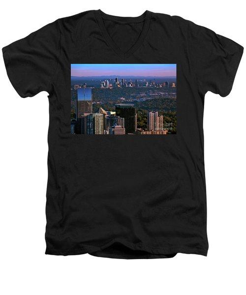 Cities Of Atlanta Men's V-Neck T-Shirt