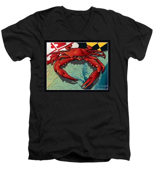 Citizen Crab Of Maryland Men's V-Neck T-Shirt