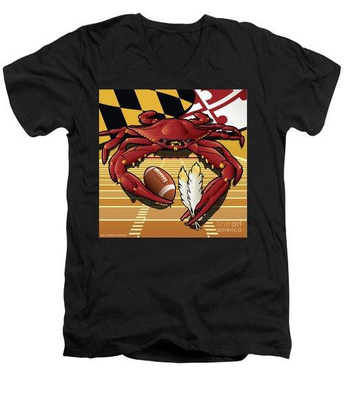 Citizen Crab Redskin, Maryland Crab Celebrating Washington Redskins Football Men's V-Neck T-Shirt