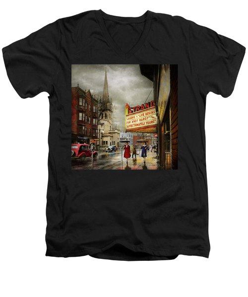 City - Amsterdam Ny - Life Begins 1941 Men's V-Neck T-Shirt