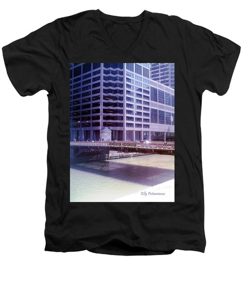 City Bridge Men's V-Neck T-Shirt