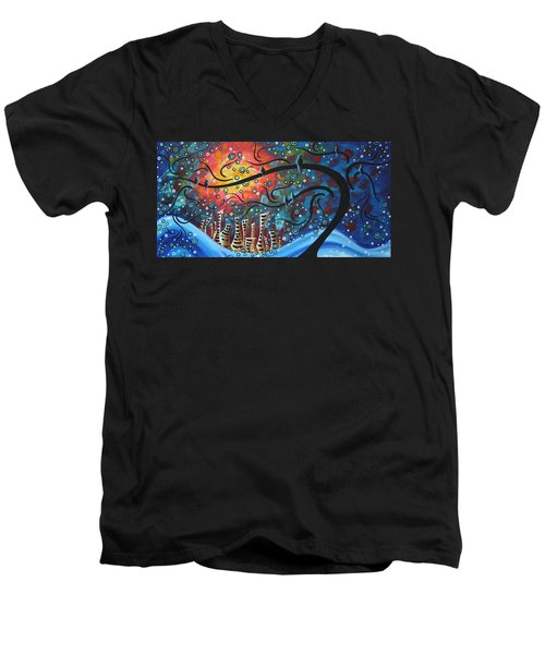 City By The Sea By Madart Men's V-Neck T-Shirt
