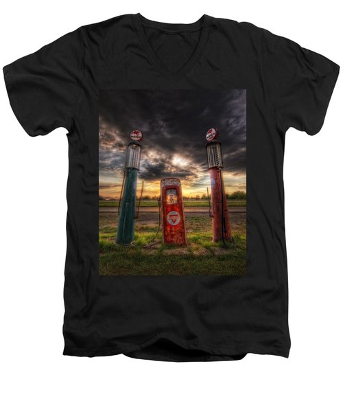City Garage Sunset Men's V-Neck T-Shirt