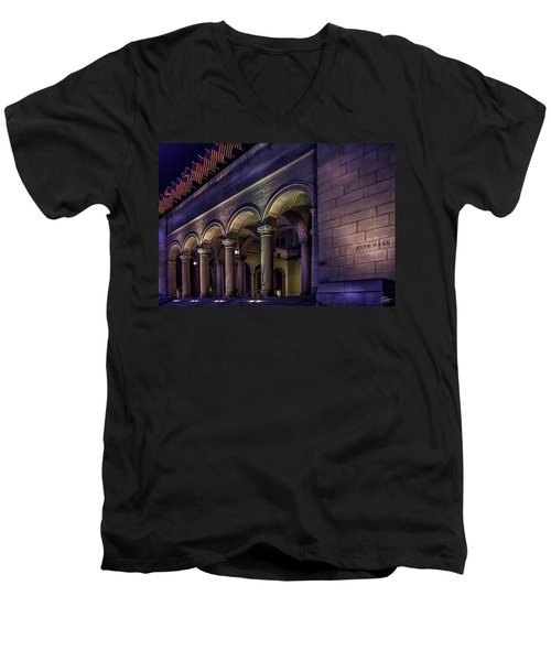 City Hall At Night Men's V-Neck T-Shirt